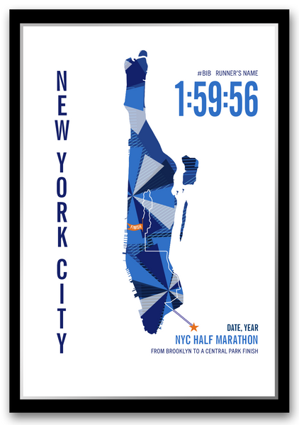 NYC 13.1 Half Marathoner Map