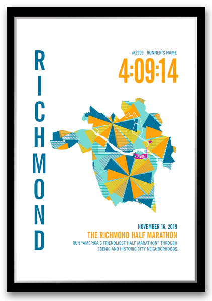 Richmond 13.1 Half Marathoner Map