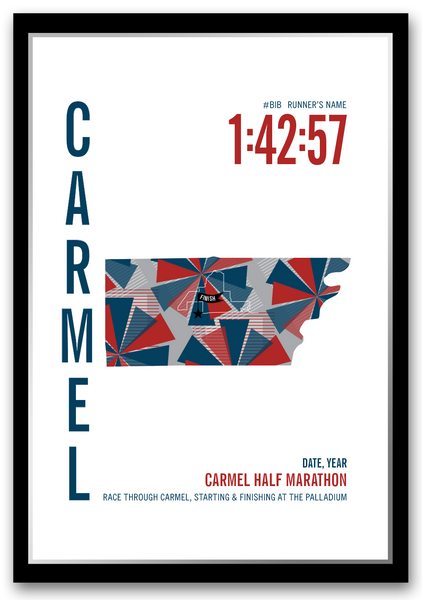 Carmel Half Marathoner Map