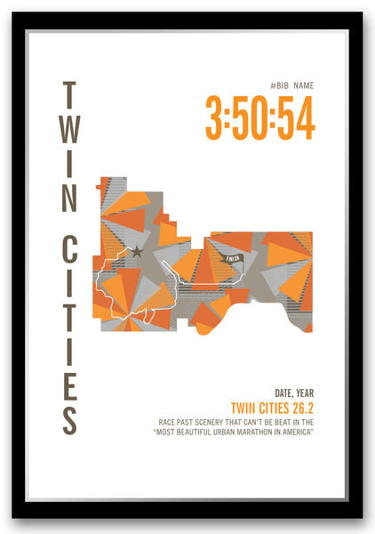 Twin Cities 26.2 Marathoner Map
