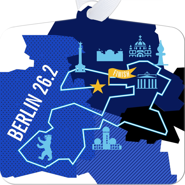 Berlin 26.2 Marathon Course Map Ornament