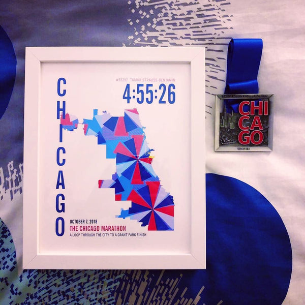 Chicago 26.2 Marathoner Map