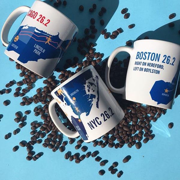 Chicago 26.2 Marathon Map Course Mug
