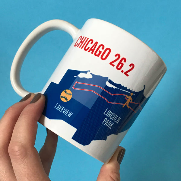 Chicago 26.2 Marathoner Map Course Mug