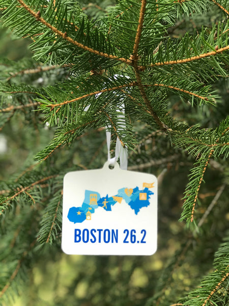 Boston 26.2 Marathoner Course Map Ornament