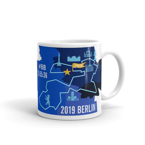 Personalized Berlin 26.2 Marathoner Course Map Mug