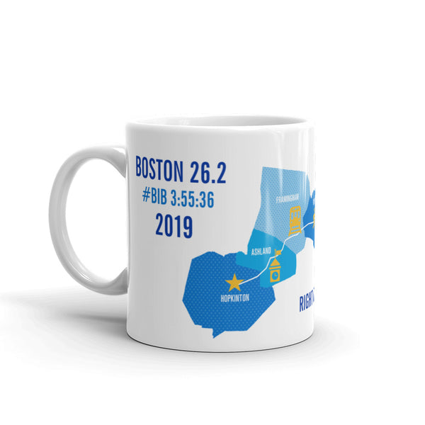 Personalized Boston 26.2 Marathoner Course Map Mug