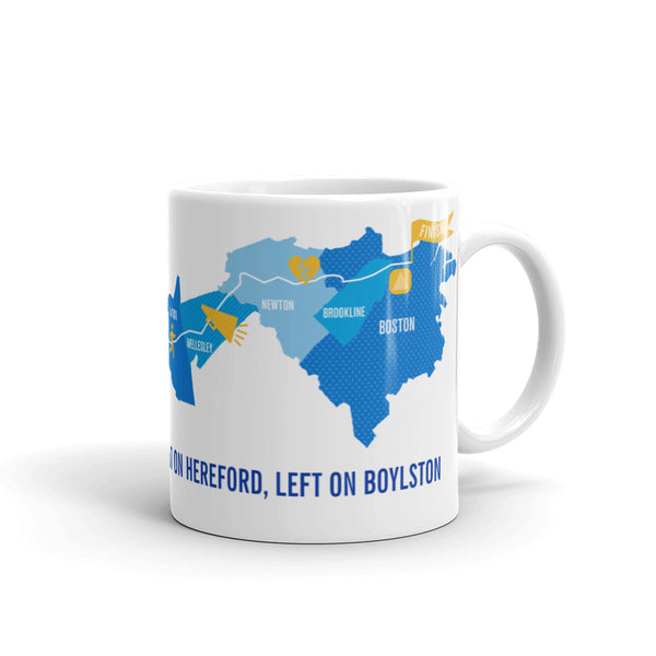Personalized Boston 26.2 Marathon Course Map Mug