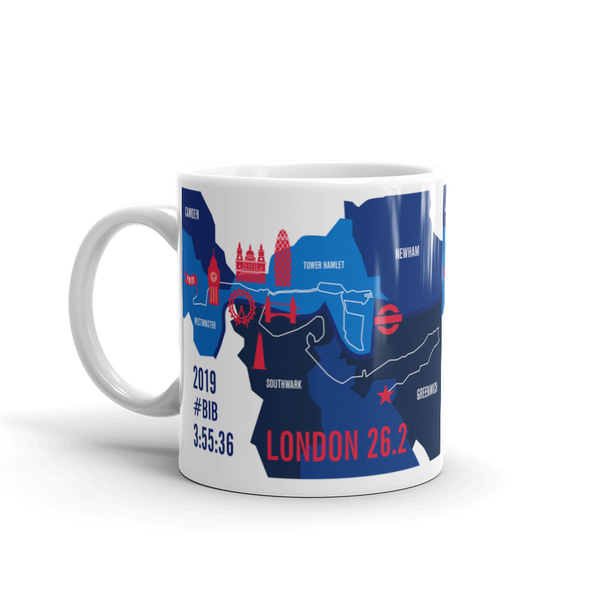 Personalized London 26.2 Marathon Map Course Mug