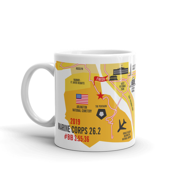 Personalized Marine Corps 26.2 Course Map Mug