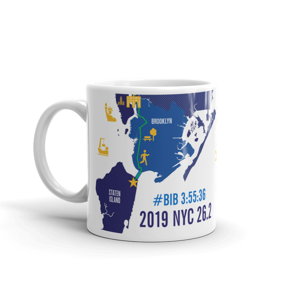 Personalized NYC 26.2 Marathoner Course Map Mug