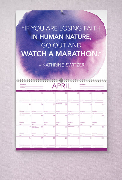 2020 Wall Calendar for Runners
