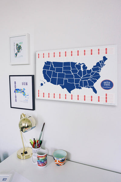 USA Map Race Chart - Run Ink