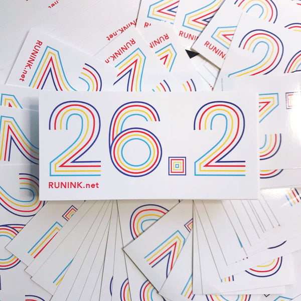 26.2 Vinyl Sticker - Run Ink