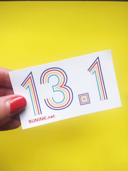 13.1 Marathon Vinyl Sticker