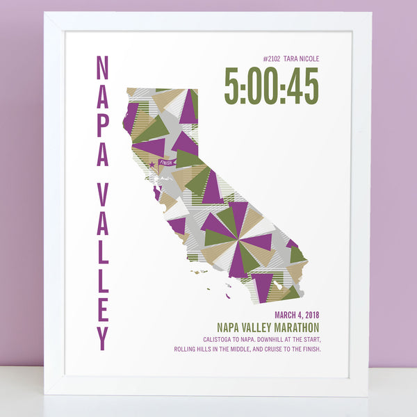 Napa Valley Marathoner Map