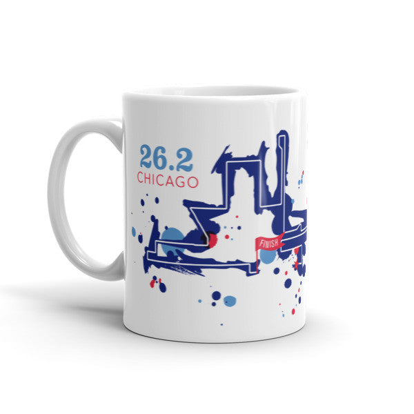 Chicago 26.2 Course Mug - Run Ink - 2
