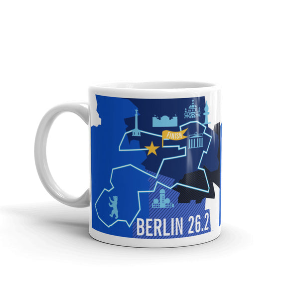 Berlin 26.2 Marathon Course Map Mug