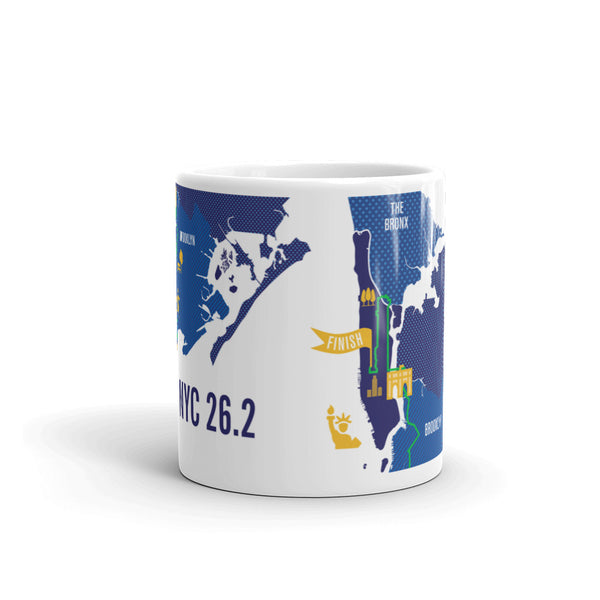 NYC 26.2 Marathon Course Map Mug