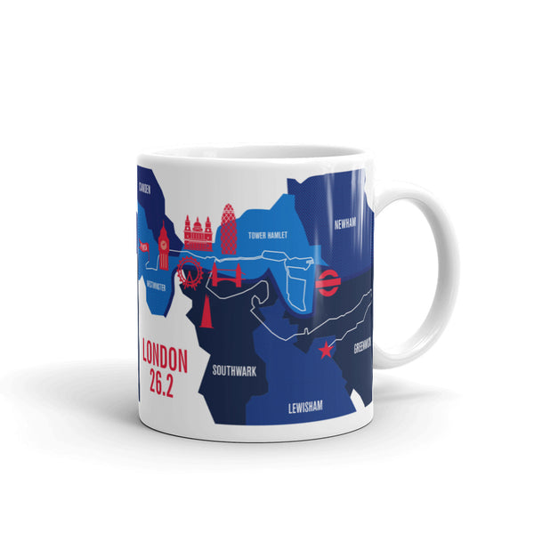 London 26.2 Marathon Map Course Mug