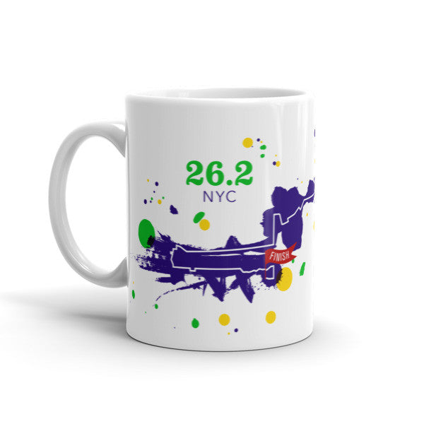 NYC 26.2 Course Mug - Run Ink - 2