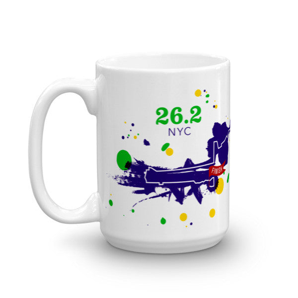 NYC 26.2 Course Mug - Run Ink - 6