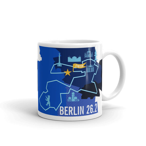 Berlin 26.2 Marathoner Course Map Mug