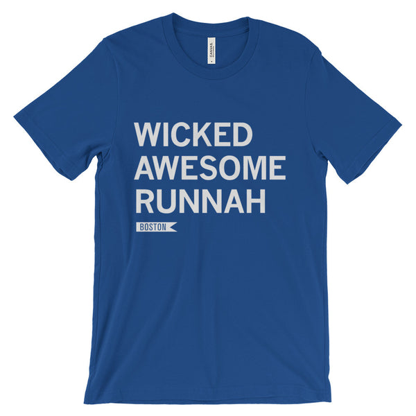 Boston Runner Unisex T-Shirt in blue - Run Ink