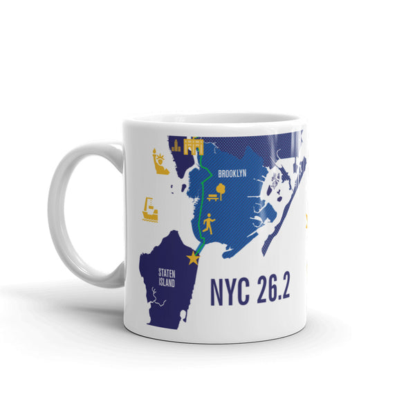 NYC 26.2 Marathoner Course Map Mug