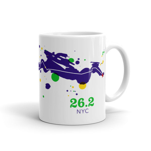NYC 26.2 Course Mug - Run Ink - 1