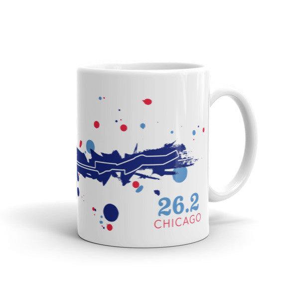 Chicago 26.2 Course Mug - Run Ink - 1