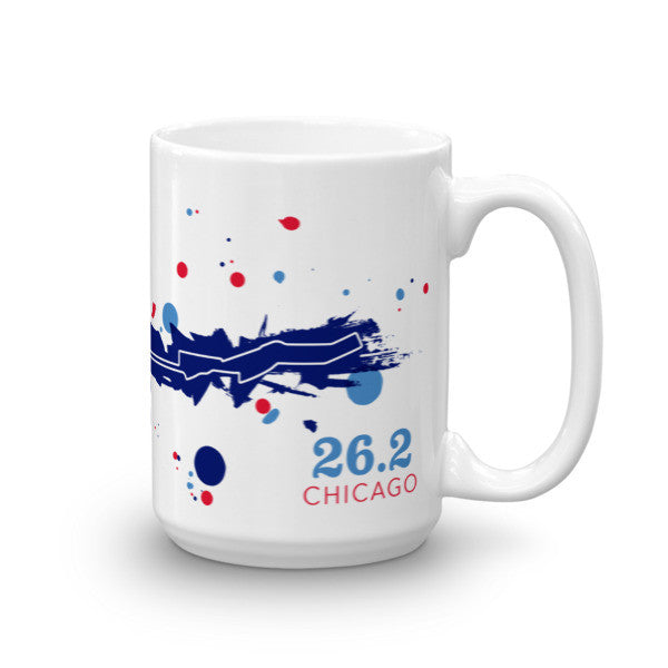 Chicago 26.2 Course Mug - Run Ink
