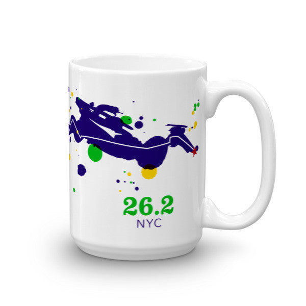 NYC 26.2 Course Mug - Run Ink - 5