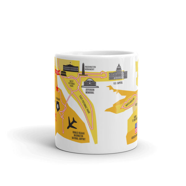 Marine Corps 26.2 Course Map Mug