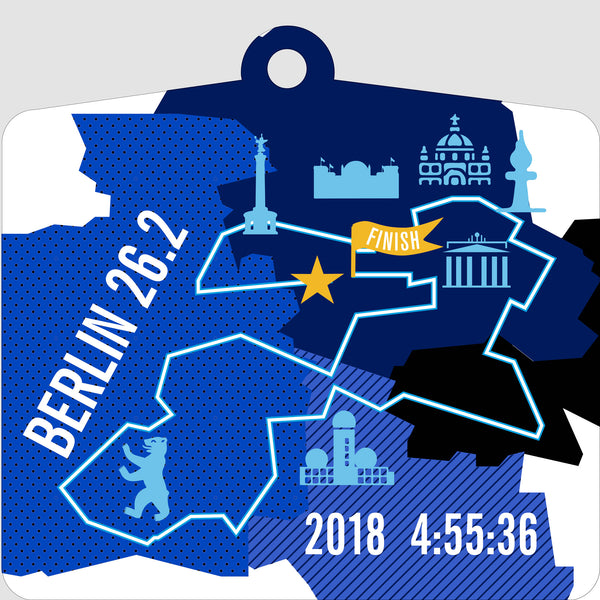 Personalized Berlin 26.2 Marathoner Course Map Ornament