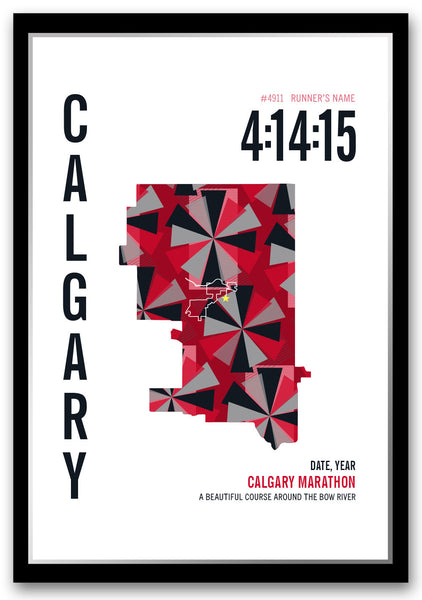 Calgary International Marathoner Map - Run Ink