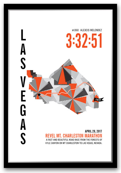 Revel Mt. Charleston Marathoner Map - Run Ink