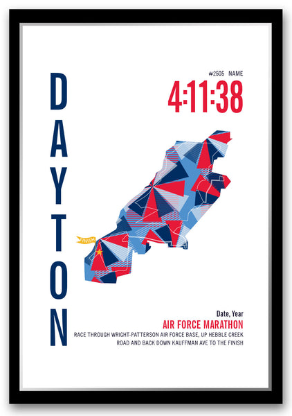 Air Force Marathoner Map - Run Ink