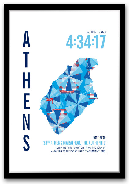 Athens Ohio Marathoner Map - Run Ink