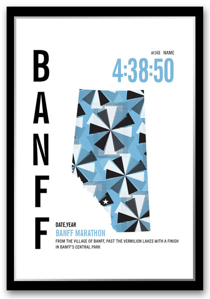 Banff Marathoner Map - Run Ink