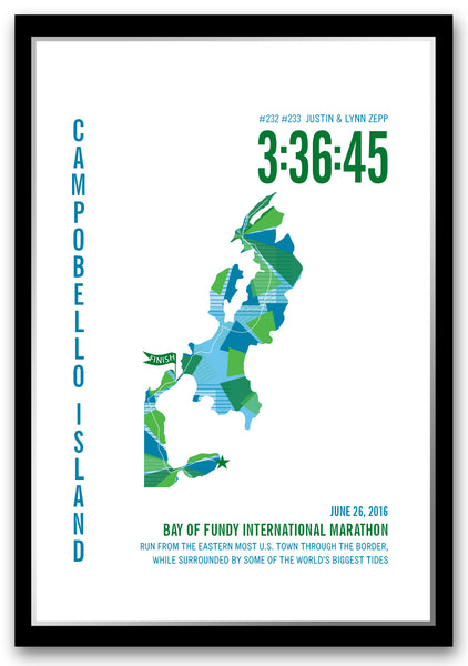 Bay of Fundy International  Marathoner Map - Run Ink