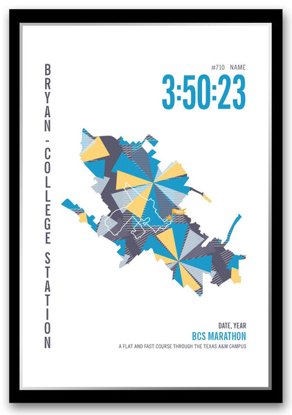 BCS Marathoner Map - Run Ink
