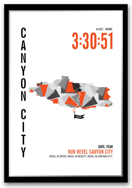 Revel Canyon City Marathoner Map - Run Ink