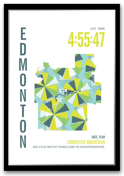 Edmonton Marathoner Map - Run Ink