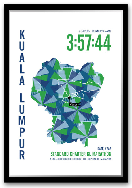 Standard Charter KL Marathoner Map - Run Ink