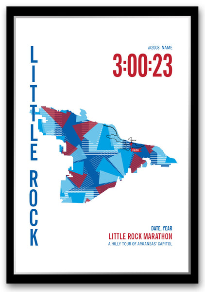 Little Rock Marathoner Map - Run Ink