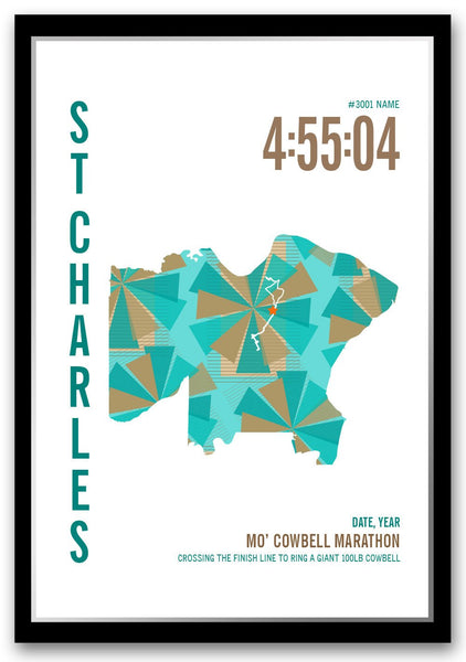 Mo' Cowbell Marathoner Map - Run Ink