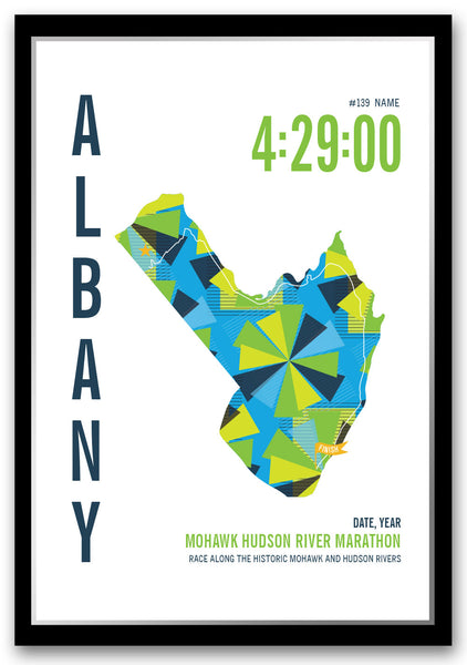 Mohawk Hudson River Marathoner Map - Run Ink
