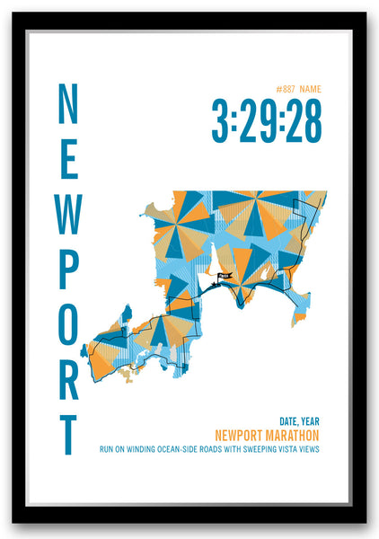 Newport Marathoner Map - Run Ink