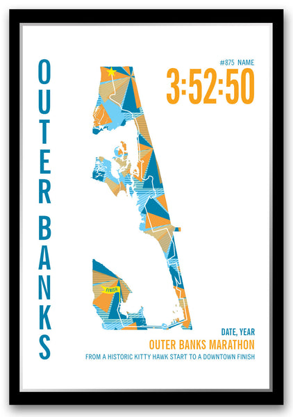 Outer Banks Marathoner Map